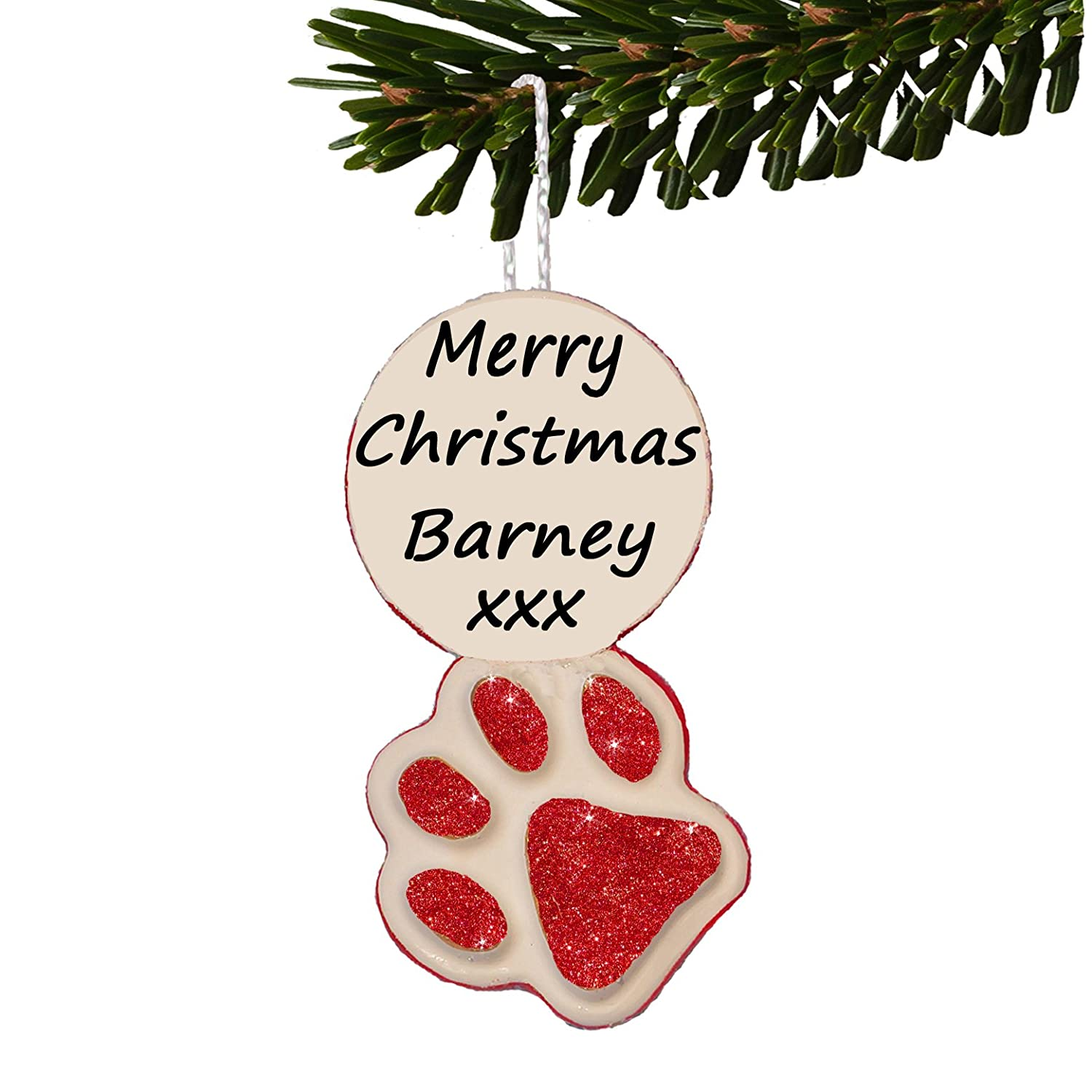PAW PRINTS, Personalised Dog/Cat gift, 1st Christmas Tree Decoration ...