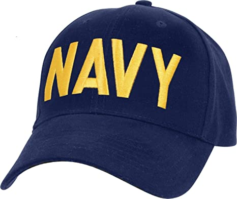 fca3c0d076d Amazon.com   AccessoriesClothing New Navy Blue Gold US Navy Hat ...