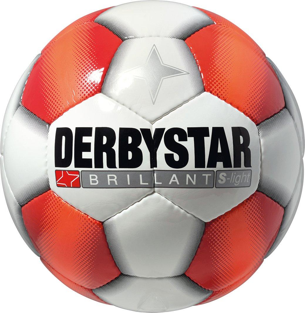 Derbystar Brillant S-light Balón de fútbol, blanco - blanco/rojo ...