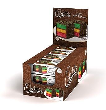The Original Cakebites Classic Italian Rainbow Cake 12 Count