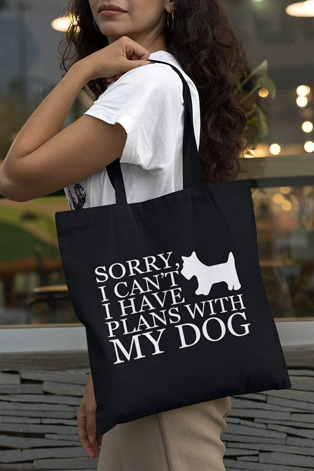 My Dog /& I Have Plans Sorry I Can/'t Canvas Tote Bag