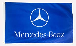 N CENTS 3x5 Foot Polyester Flag Banner for Mercedes Benz Traditional Fan Benz Logo Auto Car Fans with Brass Grommets 3 X 5 FT