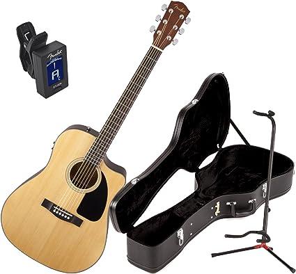 Fender cd60ce V2 Natural acústica guitarra eléctrica w/duro caso ...