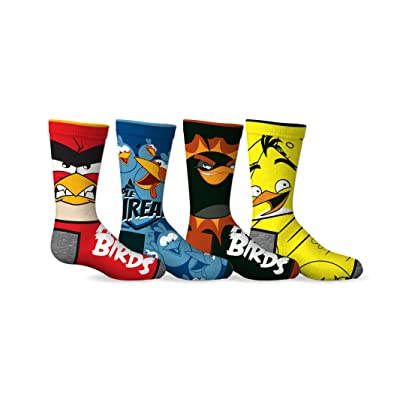 Angry Birds Boys 4-Pack Licensed Crew Socks