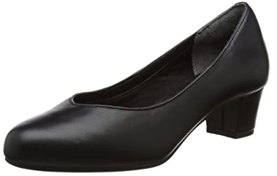 Total Motion Charisse, Zapatos de Tacón con Punta Cerrada para Mujer, Negro (Black Leather), 38.5 EU Rockport