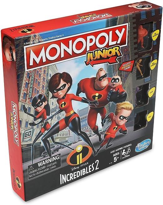 Disney E1781102 The Incredibles Monopoly Junior: Amazon.es: Juguetes y juegos
