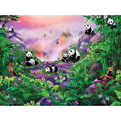 Q&K Panda DIY 1000 Piece Puzzles for Adults Kids Wooden Teamwork Weekend Relax Holidays Decompression: Toys & Games