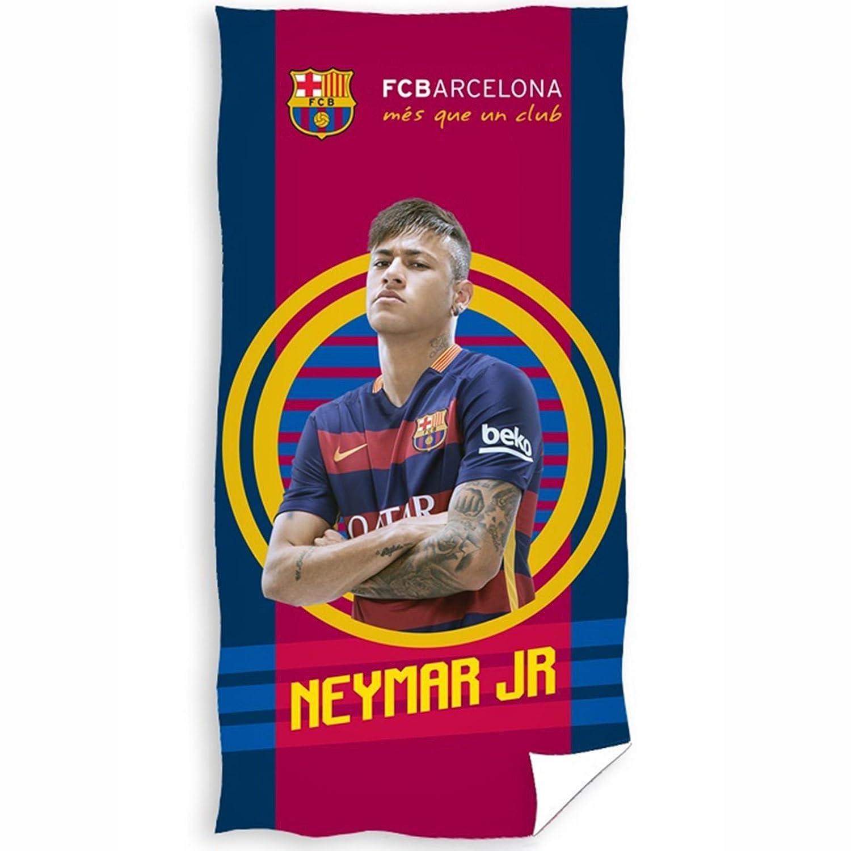 Club Licensed Barcelona Neymar Grande Terciopelo Toalla de Playa, Unisex, Red/Blue, Talla única: Amazon.es: Deportes y aire libre