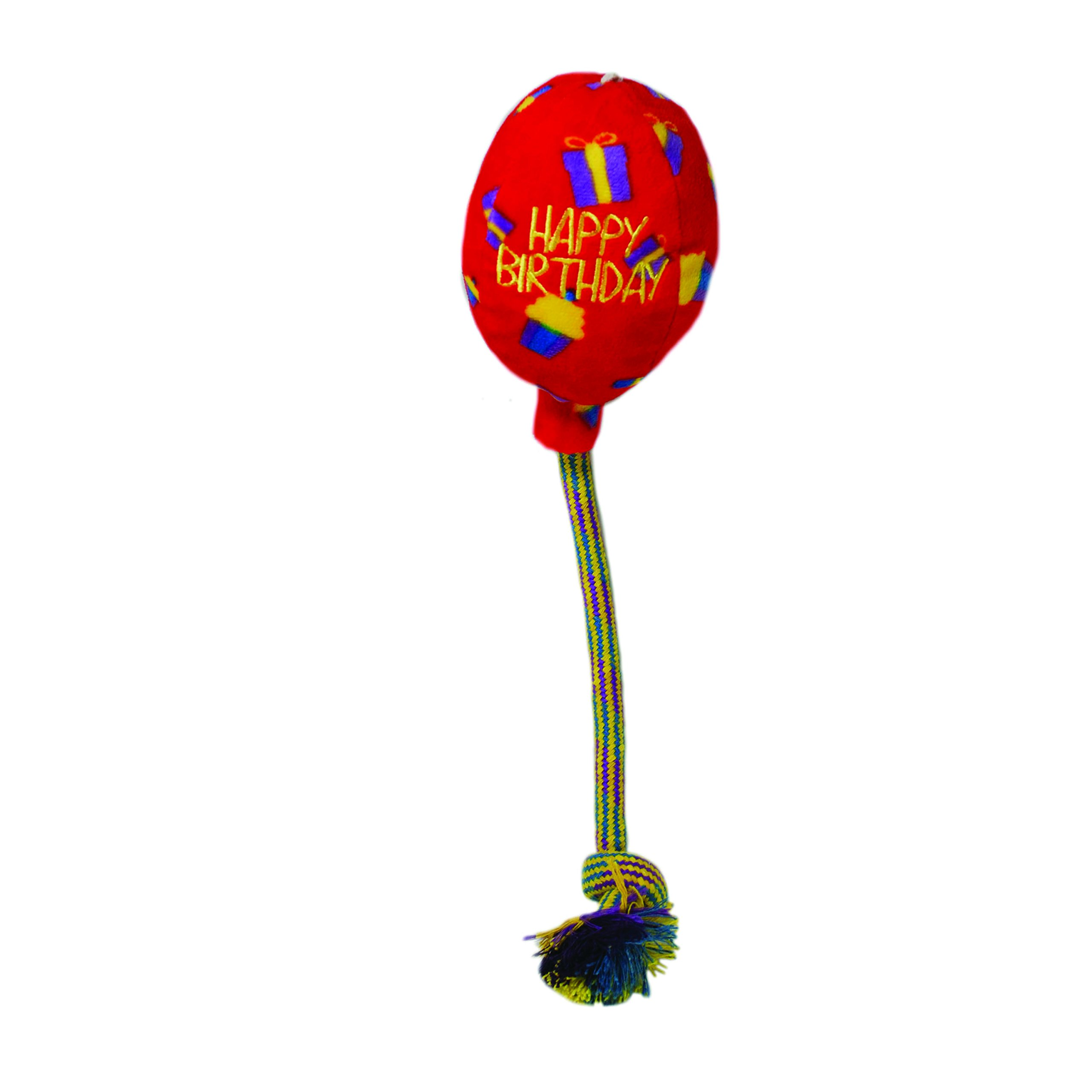 KONG Occasions Birthday Balloon Red Dog Toy, Large