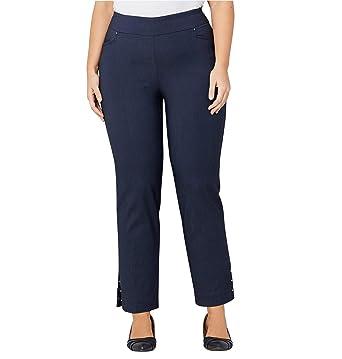 4408a00d3 Avenue Women s Super Stretch Split Hem Ankle Pant with Studs at Amazon  Women s Clothing store