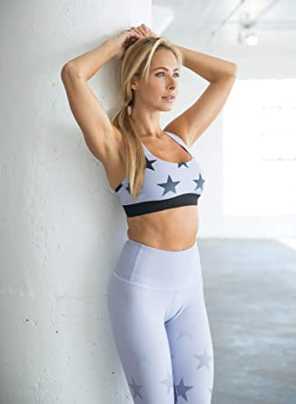 8d558bba36 Image Unavailable. Image not available for. Color  Faded Stars — Support  Sports Bra (Lilac)