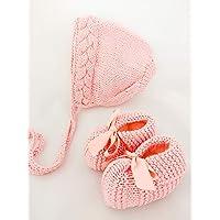 Conjunto rosa de gorro y zapatos - PEONI MILOU/regalo/baby shower/nacimiento/bebé