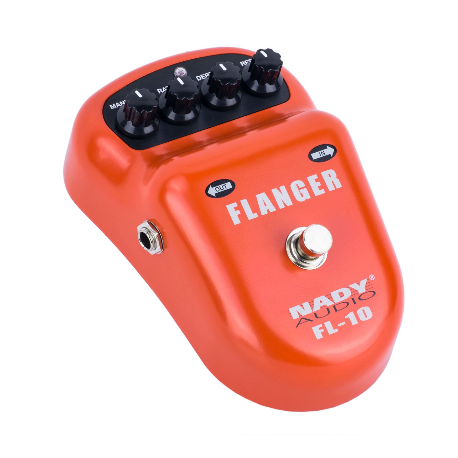 Nady FL-10 Flanger Pedal – Classic, warm & smooth guitar effects - Manual, Rate, Depth, and Resonance controls by Nady Systems