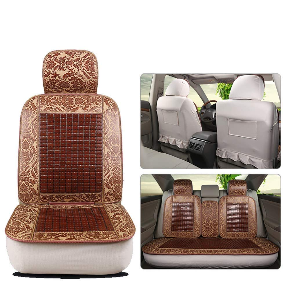 Lqqzq Cushion Car Seat Cover Protective Cover, Car Seat Cover Bamboo Pad Seat Cover Universal Comfortable Breathable Cool Seat Cover Car Cover Cushion (Color : D)