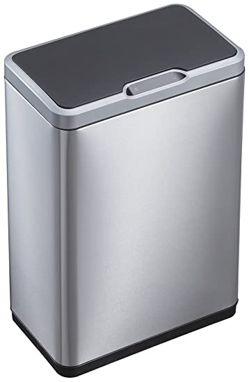 EKO 92785-1 Mirage Motion Sensor Touchless Stainless Steel Trash Can | 50  Liter