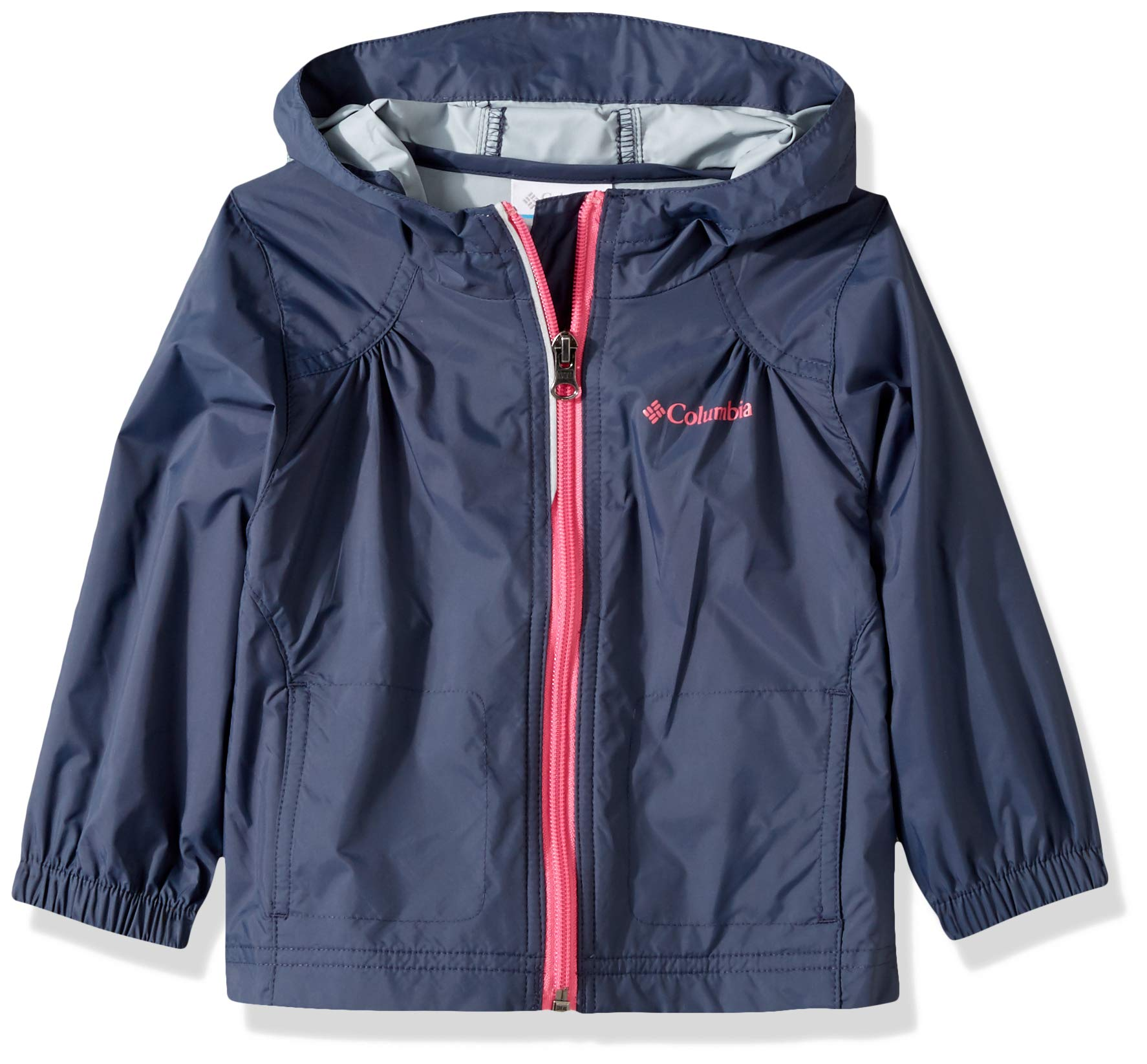 Columbia Girls' Toddler Switchback Rain Jacket, Nocturnal, 2T