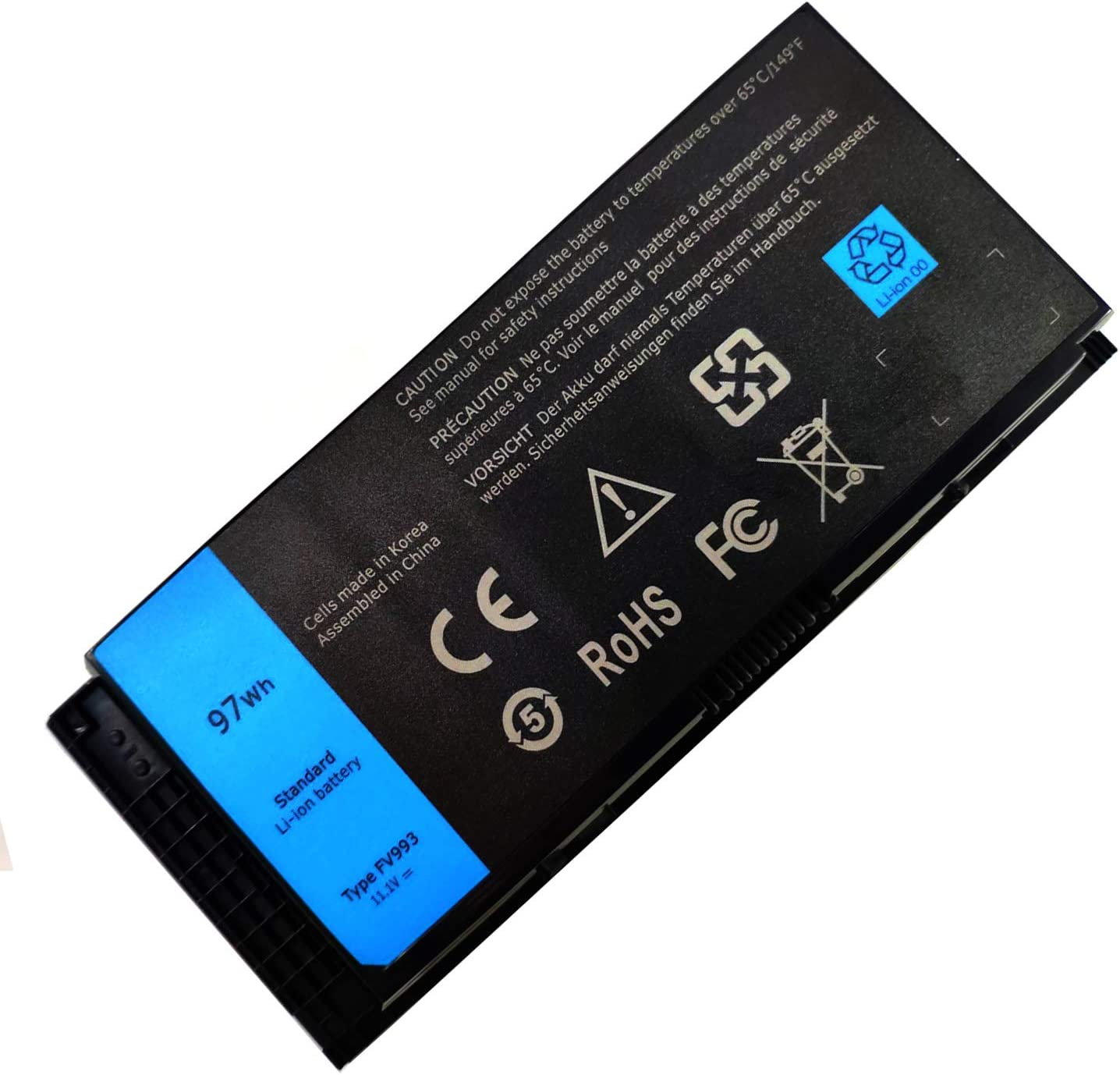 EndlessBattery New FV993 (9Cell 97WH 11.1V) Laptop Battery Compatible with Dell Precision M4600 M4700 M4800 M6600 M6700 M6800 R7PND JHYP2 K4RDX 0TN1K5 V7M28 7DWMT FJJ4W PG6RC G5M10