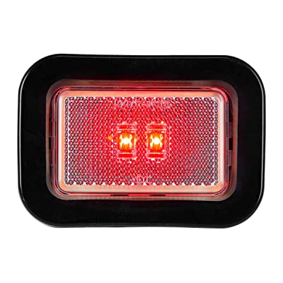 Grand General 78597 LED Light (Small Rectangle Red/Clear/Grommet): Automotive