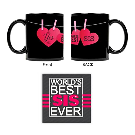 Giftsmate Bhaidooj Gifts For Sister Mug You Are The Best Combo Coaster Set Of