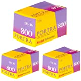 Pack of 3 Kodak 145 1855 Professional Portra 800 Color Negative Film (ISO 800) 35mm 36 Exposures