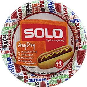 Solo 8 3/4 All Occasion Paper Plates, 44 Count