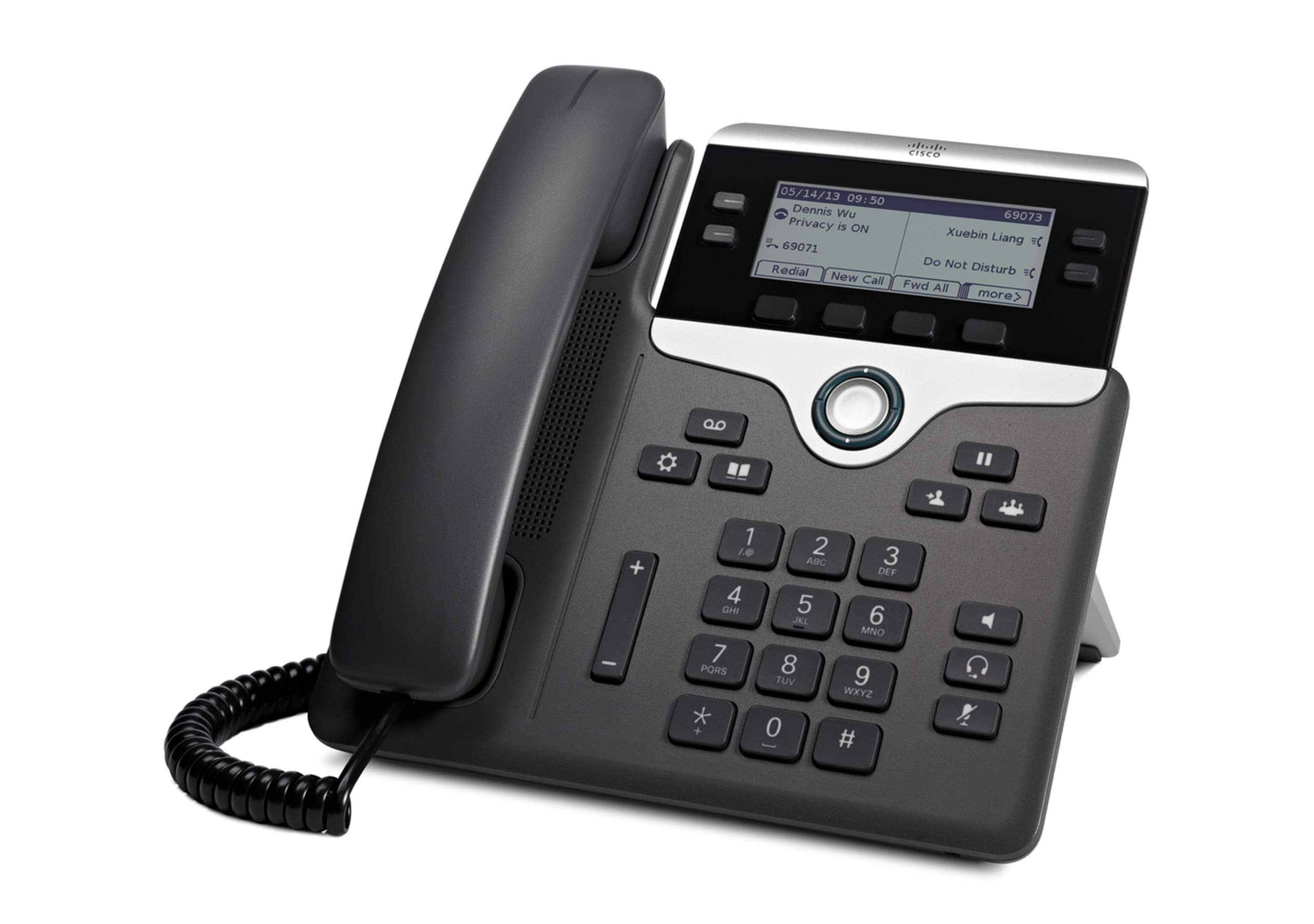Cisco Remanufactured IP Business Phone 7841, 3.5-inch Grayscale Display, Class 1 PoE, Supports 4 Lines, 1-Year Limited Hardware Warranty (CP-7841-K9-RF)