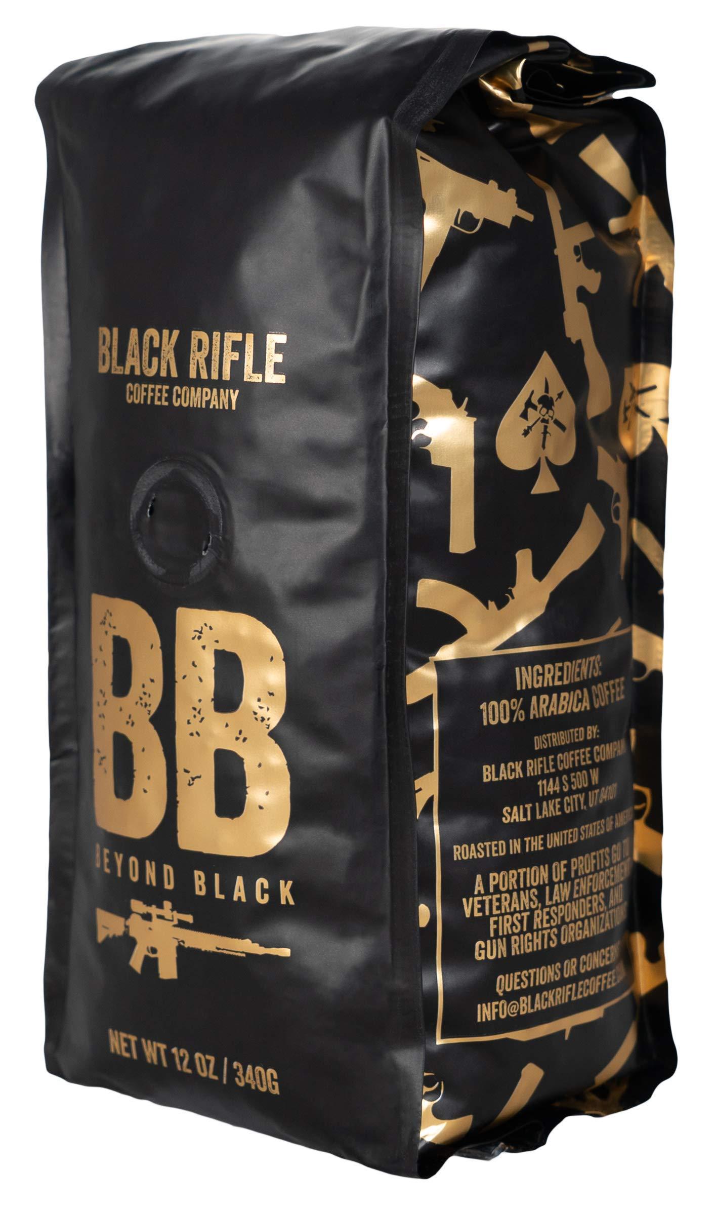 Black Rifle Coffee Company Beyond Black Coffee Dark Roast Whole Bean, 12 Ounce Bag