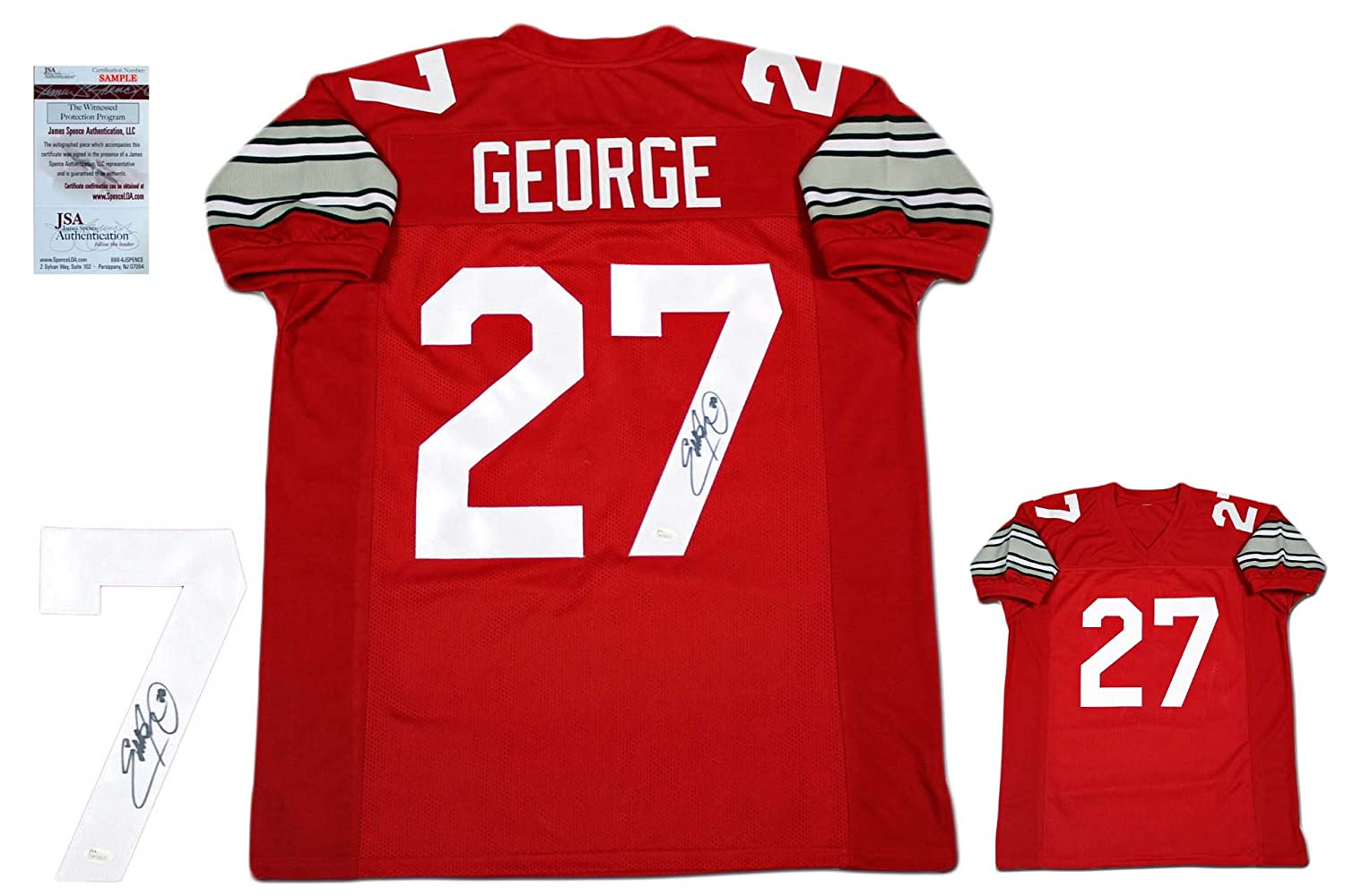 separation shoes 2ab6a cc6f0 Eddie George AUTOGRAPHED Jersey - JSA Witnessed authentic at ...