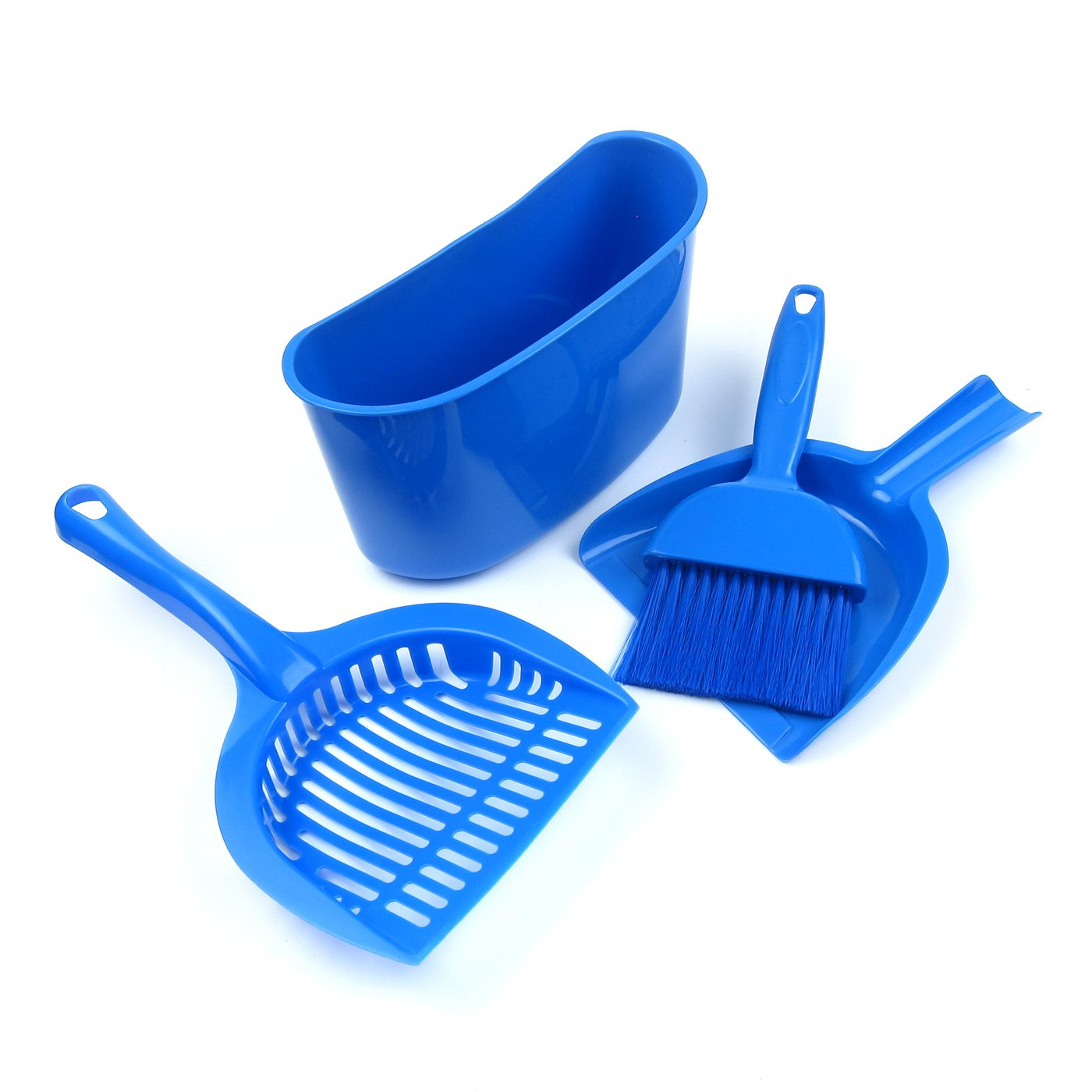 Alfie Pet by Petoga Couture - Aaron Cat or Small Animal Cleaning Brush Set - Color Blue