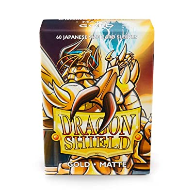 Arcane Tinman AT-11106 Sleeves: Dragon Shield Matte Japanese Gold (60): Toys & Games