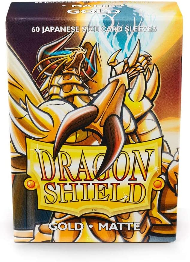 Arcane Tinman AT-11106 Sleeves: Dragon Shield Matte Japanese Gold (60)
