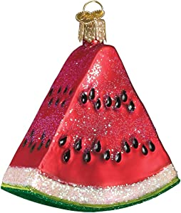 Old World Christmas Ornaments: Fruit Selection Glass Blown Ornaments for Christmas Tree, Watermelon