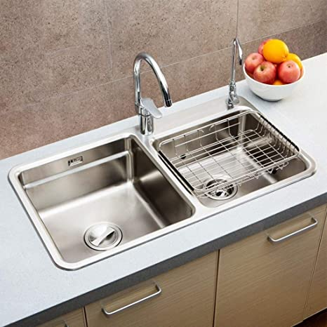 Lavabos de cocina 304 Acero inoxidable que estira el doble ...
