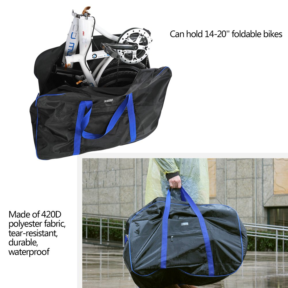 VGEBY Bike Travel Cases Transport Carrying Bag with Saddle Bag for 14-20 inch Foldable Bicycle by VGEBY (Image #4)