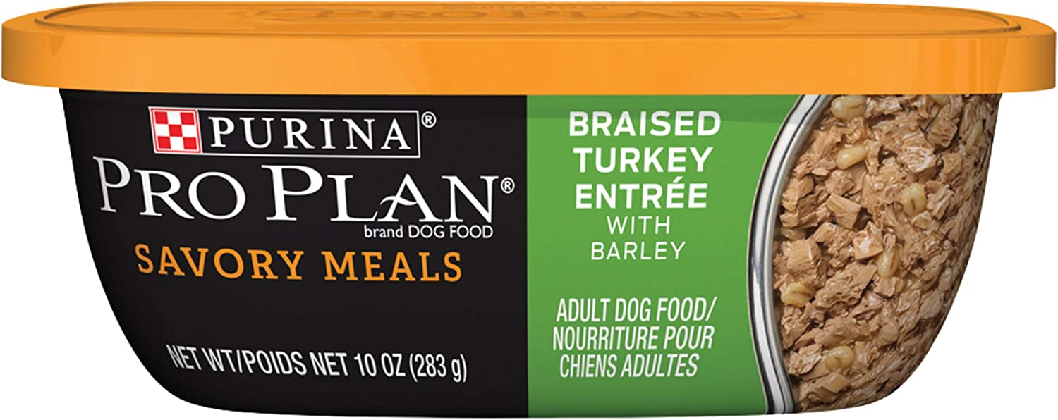Purina Pro Plan Savory Meals High Protein, Gravy Adult Wet Dog Food - (8) 10 oz. Tubs