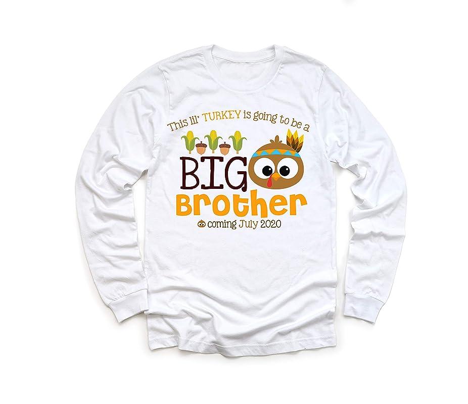 Thanksgiving Football Big Brother Raglan Thanksgiving Big Brother Announcement Shirt Boys Gray Thanksgiving Pregnancy Announcement Shirt