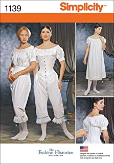 product image for Simplicity 1139 Women's Civil War Historical Costume Sewing Pattern, Sizes 6-12