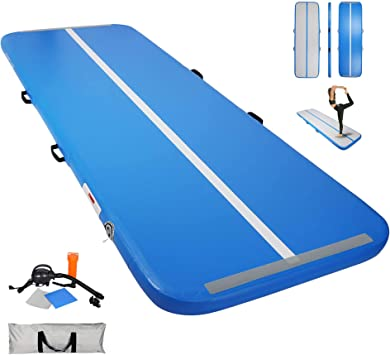 100cmx100cm Aufblasbar Airtrack Air Block Kinder Tumbling Gymnastik matte+Pumpe