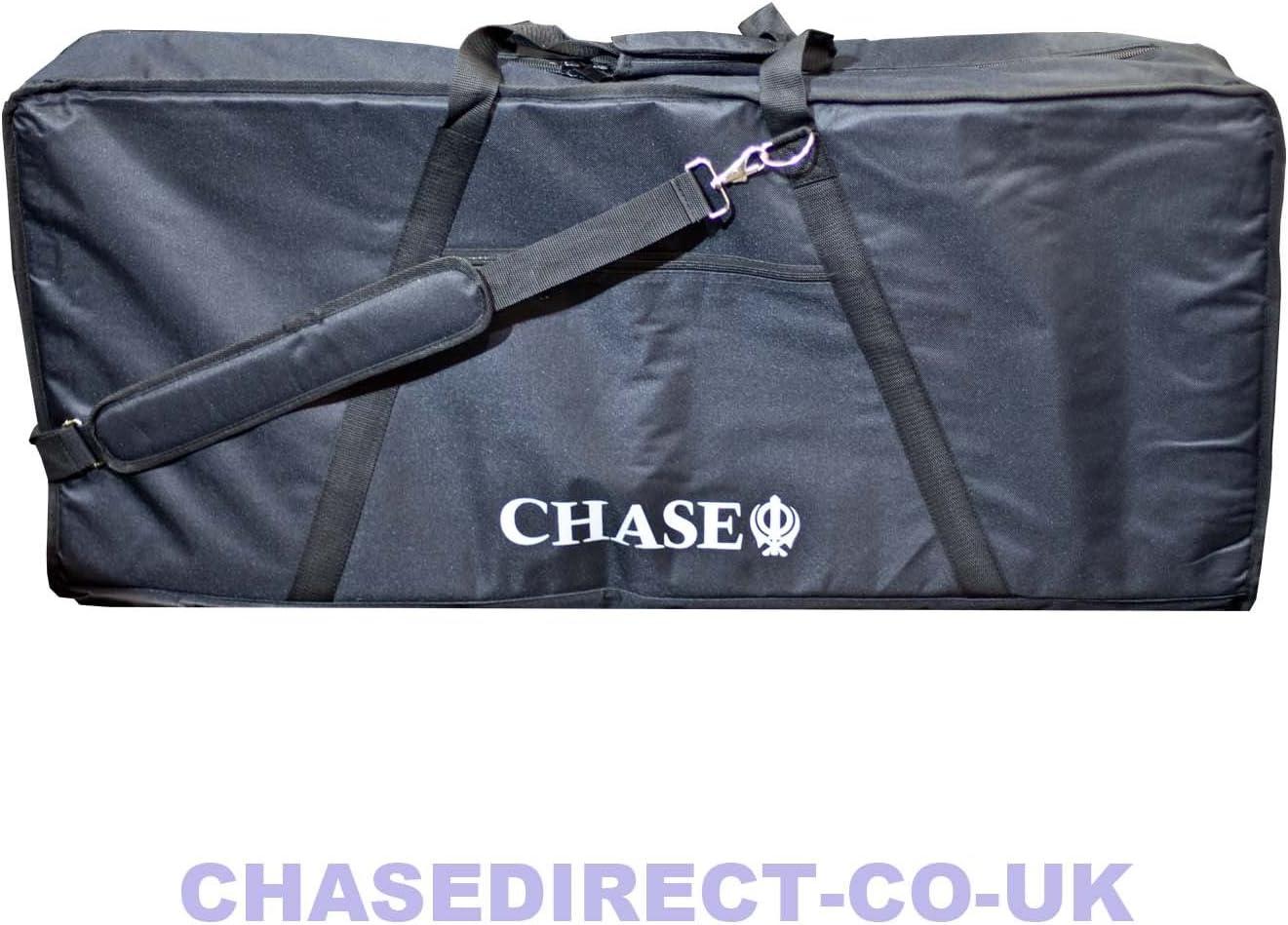 Chase bolsa de teclado acolchada para teclados con 61 teclas con 10 mm acolchado de espuma suave ckb05171