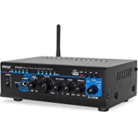 Pyle 2X120 Watt Home Audio Power Amplifier - Portable 2 Channel Surround Sound Stereo Receiver w/ USB IN - For Amplified…