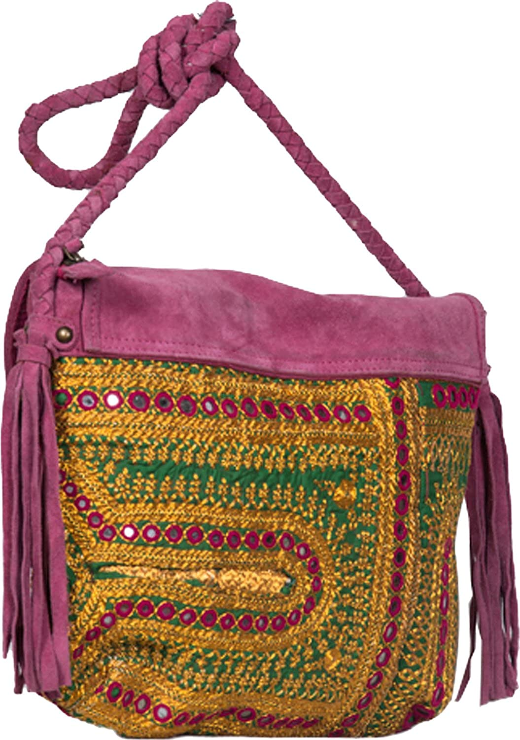 Jaipur Textiles Hub Women's Hand Bag ( Yellow, JTH-151 )
