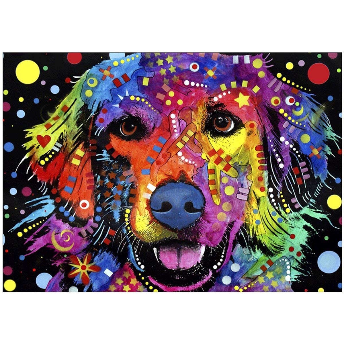 NEILDEN 5D DIY Diamond Painting Full Drill Cross Stitch Kit 40x30cm Diamond Painting Kits for Adults Rhinestone Embroidery Diamond Art(Unicorn)