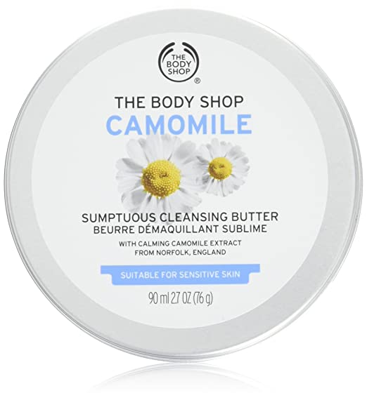 The Body Shop Camomile Sumptuous Cleansing Butter, Paraben-Free Makeup Remover, 2.7 Oz.