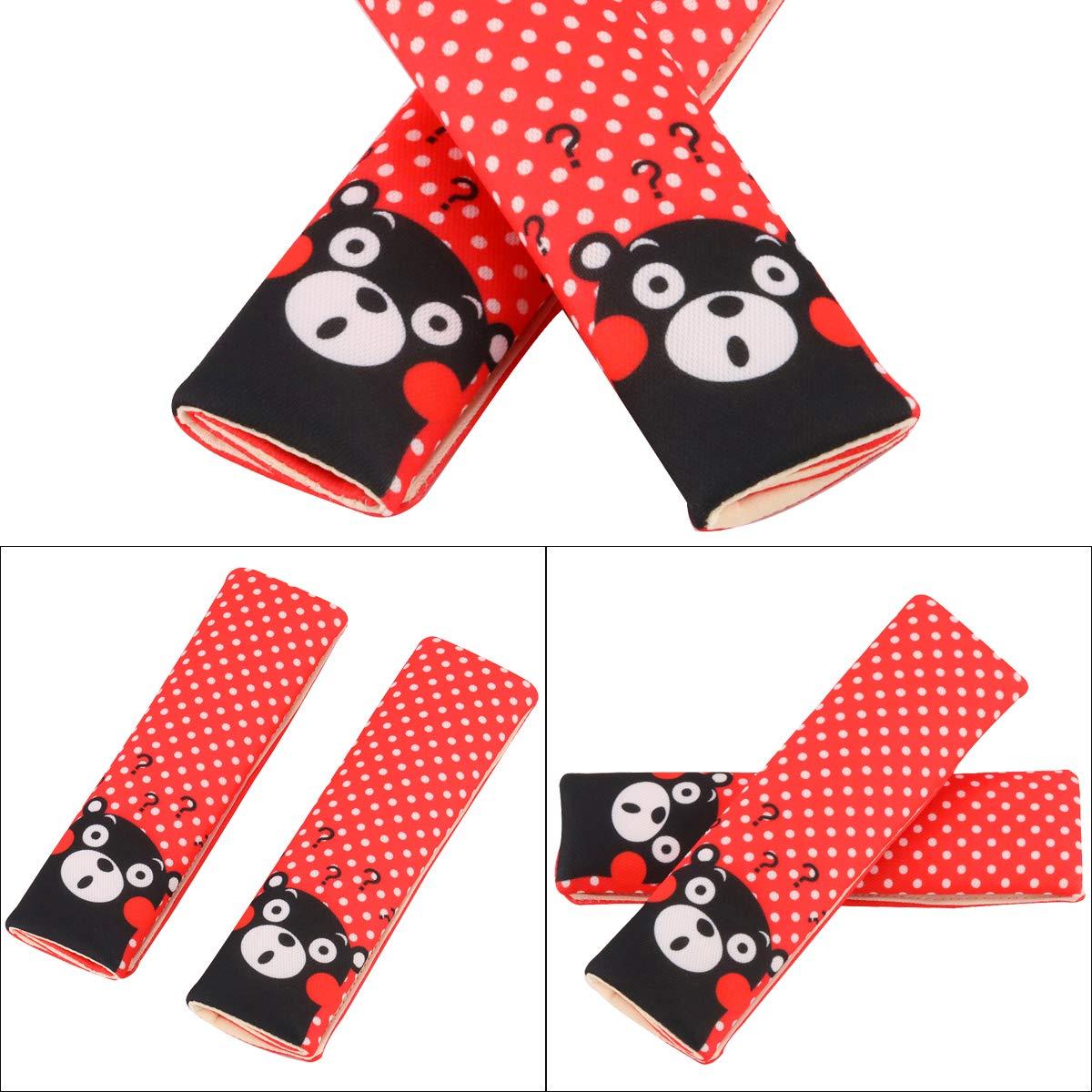 Red dot bear Luchild Almohadillas de cintur/ón de seguridad 2-PACK Ni/ños Peque/ños Almohada de seguridad para el beb/é Asiento de coche Almohadilla Proteger Hombro