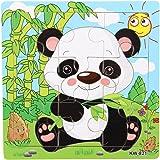 SODIAL(R) Puzzle Animal en Bois 9 Pieces Jouet Jeu Casse-tete Cadeau pour Enfant Bebe