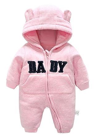 9a166e81d99dc C-Princess ベビー服 カバーオール ロンパース ジャンプスーツ 着ぐるみ フード付き クマ耳 秋冬 新生児 赤ちゃん