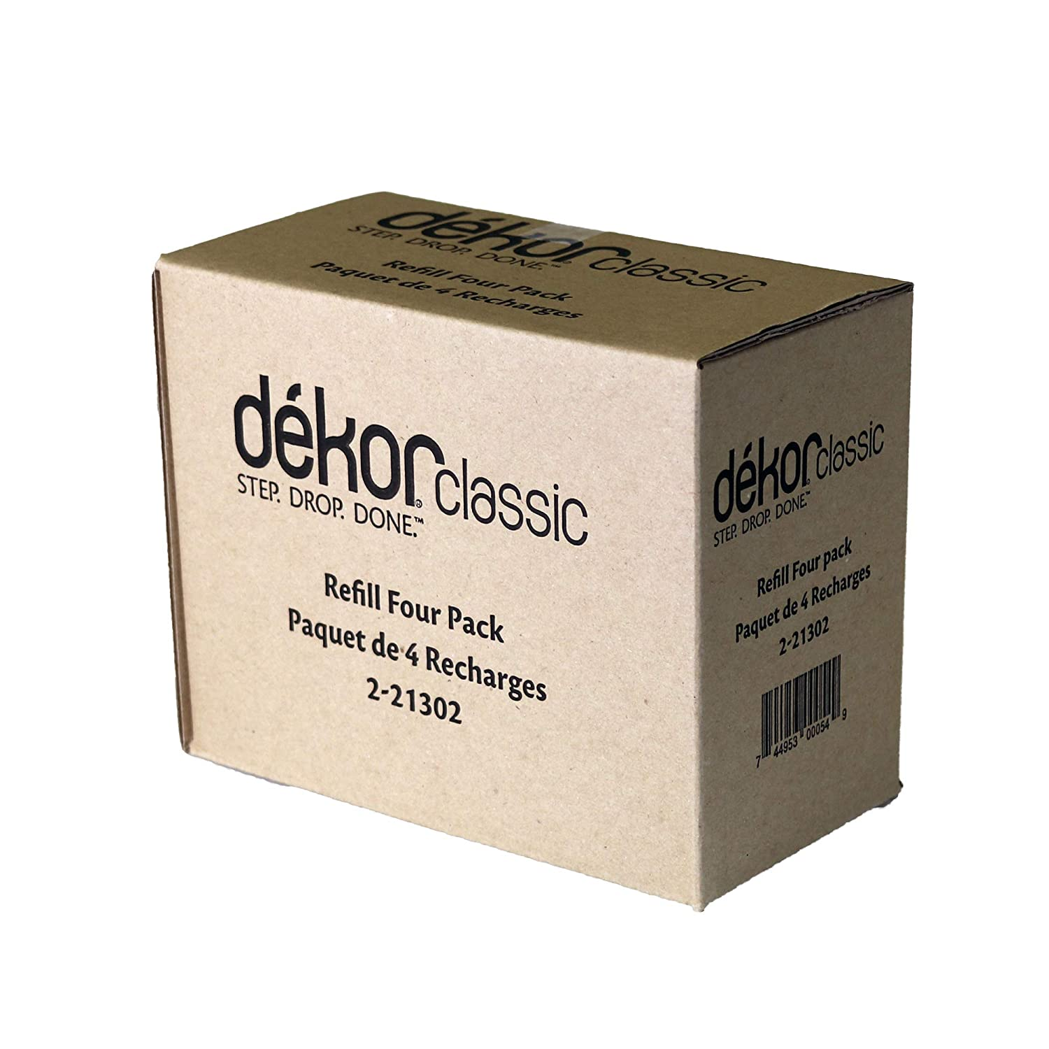 Dekor Classic Diaper Pail Refills | Most Economical Refill System | Quick & Easy to Replace | No Preset Bag Size – Use Only What You Need | Exclusive End-of-Liner Marking | Baby Powder Scent | 2 Count Diaper Dekor 2-21300