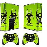 TQS™ Dise?ador etiqueta piel para la consola Xbox 360 Slim con dos calcomanšªas controlador inalš¢mbrico- Biological harzard