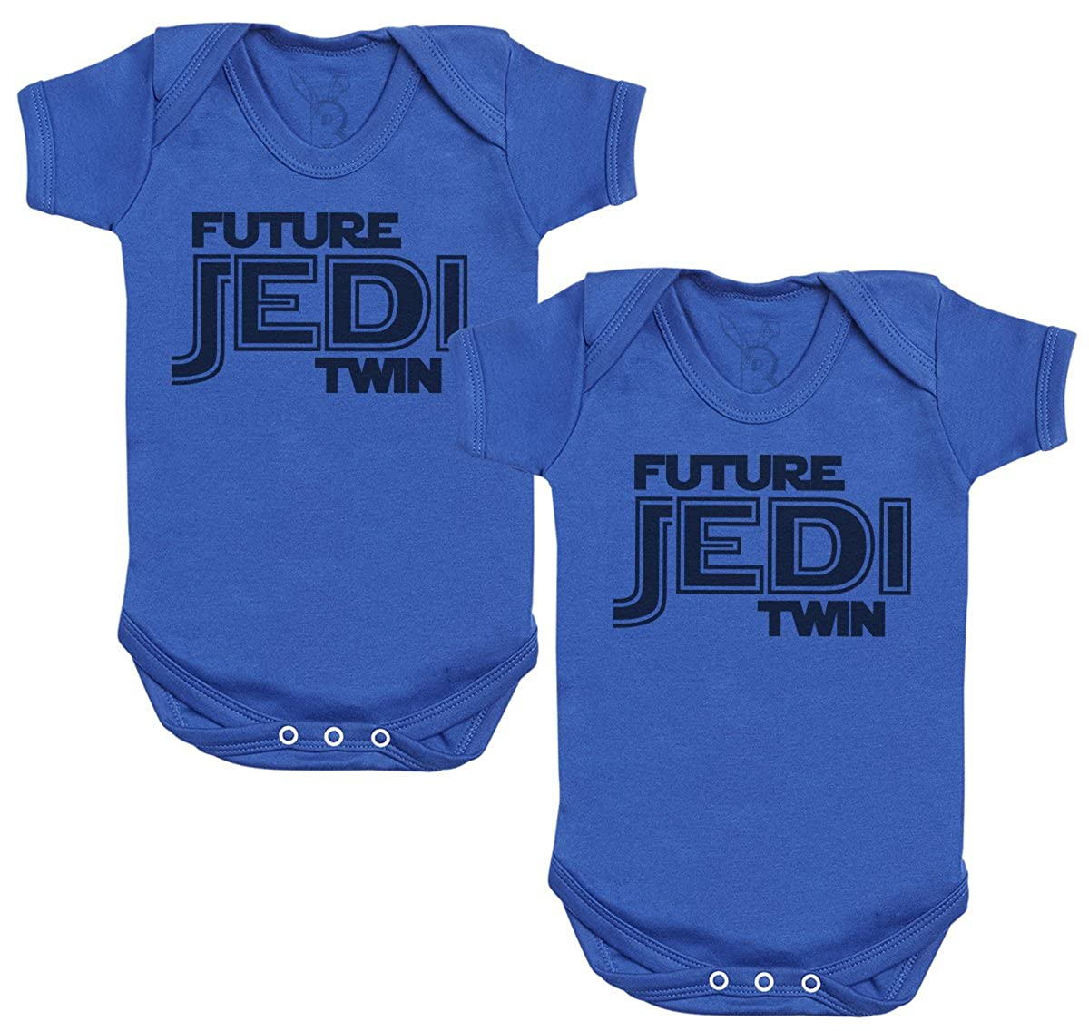 Zarlivia Clothing Future Jedi Twins Baby Bodysuit - Baby Onsie - Baby Gift Twin Set - Baby Twins Gift - Baby Gift Twins