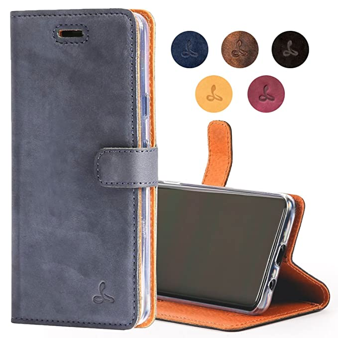 competitive price 585d1 f245b Google Pixel 2 XL Case, Snakehive Genuine Leather Wallet with Viewing Stand  and Card Slots, Flip Cover Gift Boxed and Handmade in Europe by Snakehive  ...